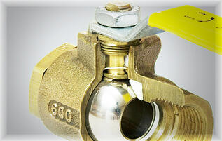 Ball Valve with packing nut
